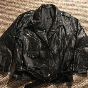 Other - XL Leather Biker Jacket